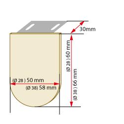 dimensions cache support store enrouleur